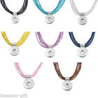 1PC NEW Fashion Wax Rope Snap Button Necklace Jewelry 48cm
