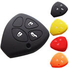 Silicone Car Key Cover Case 3 Buttons cover for Toyota Camry Crown Ruiz Corolla