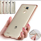 Luxury ShockProof Silicone Rubber Clear Case Cover For HuaWei Models