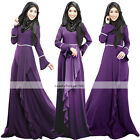 Women New Vintage Kaftan Abaya Jilbab Islamic Muslim Long Sleeve Maxi Dress