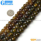 Dark Yellow Dragon Veins Agate Gemstone Round Beads Free Shipping 6mm 8mm 10mm