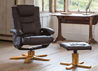 Brand New Executive Swivel Recliner Chair w Footstool - Heat & Massage optional