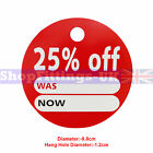 '25% OFF' ROUND PRICE DISPLAY CARD SWING TICKETS FOR RETAIL SALE DISPLAY
