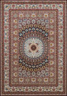 Red Circles Diamonds Fanned Traditional-European Area Rug Medallion 1900-01639