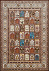 Multi-Color Traditional-European Boxes Blocks Area Rug Bordered 1900-01955