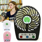 Mini Portable Rechargeable LED Removable Fan Air Cooler Desk USB Battery Timing