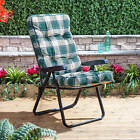 Alfresia Black Outdoor Garden Recliner Chair with Classic Cushion - Choice of Co