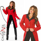 Ladies Ringmaster Jacket Costume Adult Circus Fancy Dress Lion Tamer Outfit New