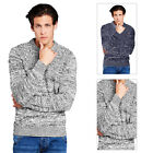 Brave Soul Mens Regal Jumper New Designer Knitted Cotton Crew Neck Sweater