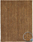 Brown Handloomed Loop Silver & Gold Jute Rustic/Primative Area Rug Solid AMB0323