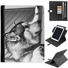 U-WOLV02 WOLF UNIVERSAL PROTECTIVE TABLET LEATHER FLIP WALLET 360 SWIVEL CASE