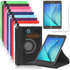 "Smart Rotating PU Leather Case+Screen Protector For Samsung Galaxy Tab A 8"" 9.7"""