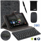 EEEKit for 7/8/10 In Tab PU Leather Cover Case+Bluetooth Wireless Keyboard Mouse
