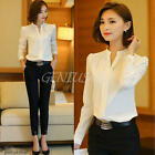 Sexy Women Ladies Long Sleeve Loose Blouse Summer V Neck Casual Shirt Tops New