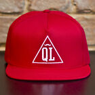 Quiet Life Triangle Snapback Cap Brand New Cap Red