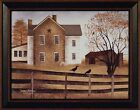 AUTUMN AFTERNOON by Billy Jacobs FRAMED ART PRINT 15x19 Farm Fence Birds Crows