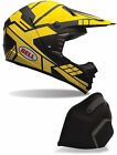 Bell Adult Charcoal Grey/Yellow SX-1 Stack Snowmobile Helmet Snocross Snow 2017