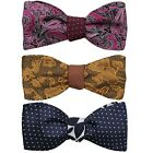BMC Mens 3pc Reversible Design Self Tied Flat Tip Style Bow Ties