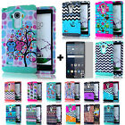 DESIGN Impact Proof Cover Soft Hard Case + Tempered Glass for LG G Stylo LS770
