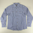 Carhartt New Long Sleeve Risdon Shirt Pacific Blue Stripe size S