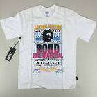Addict International Bond T-Shirt New  - Size: S L - White