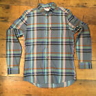 WESC New Long Sleeve Checkered Shirt Green Blue size S