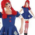 Adult Ladies Scary Broken Ragdoll Halloween Fancy Dress Costume Outfit and Socks