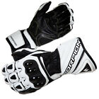Scorpion Mens White/Black Guardian Leather Motorcycle Gloves
