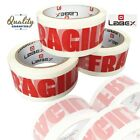 "LABEX STRONG FRAGILE PARCEL PACKAGING TAPE 48mm X 66m 2"" ROLL"