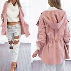 Fashion Womens Warm Hooded Long Coat Jacket Trench Windbreaker Parka Outwear