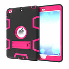 Shockproof Defender Armor Rubber Plastic Stand Case Cover For Apple iPad 2/3/4