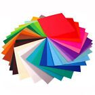 "40 Various Color Felt Sheets DIY Craft Supplie Polyester Wool Blend Fabric 6""*6"""