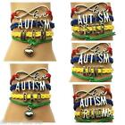 Autism autistic awareness puzzle piece charm BRACELET gift bangle jewellery AB5