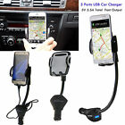 3 USB Car Charger Holder Mount With Cigarette Lighter Chargers for iPhone 7 Plus