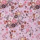 JANE MAKOWER FOLK FLORAL PINK  100% COTTON FABRIC quilting dressmaking