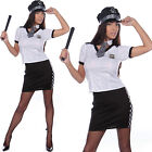 Ladies Police Cop Halloween Costume Fancy Dress Sexy Outfit Woman Officer Size