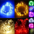 Waterproof 10M 33ft 100 LEDS Copper Wire String Fairy Wedding Party Light Lamp