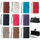 Magnetic Flip Leather Wallet Card Strap Case Back Stand Cover For Samsung Galaxy