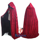 Halloween Medieval Velvet Hooded Cloak Gothic Vampire Wicca Robes Cosplay Capes