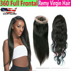 "Lace Frontal 360 Body Wave Straight Human Remy Hair BRAZIL MALAYSIAN 22""x4""x""2"""