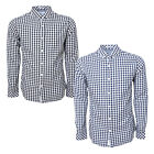 Crosshatch Mens Copen Check Shirt Long Sleeve Regular Fit Collared Cotton Top