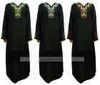 Muslim Plus Size Black Hot Drill Abaya Dress Islamic Clothing Women Kaftan Dress