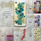 Hand Made Pressed Dry Flower Glitter Hard Skin Case For iPhone 7 Samsung Note LG