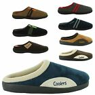 MENS SLIPPERS OPEN BACK SHOES MULE COOLERS SLIP ON FLAT INDOOR HOUSE SHOES SIZES