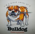 Funny Dog Tshirt: Bulldog Loves To Go Postal Cute Puppy Pet Paw Canine