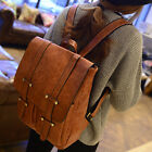 Women Girl Retro PU Leather Travel Shoulder Satchel Backpack School Bag Handbag