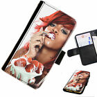 RIHA05 RIHANNA STRAWBERRY PRINTED LEATHER WALLET/FLIP PHONE CASE FOR ALL MODELS