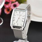 2017 Men Women Watch Stainless Steel Mesh Band Analog Quartz Wrist Watch
