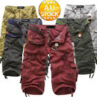 Men's multi-pocket overalls washed loose pant Cargo Pants Trousers Casual GKKD
