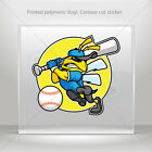 Decals Decal Bee Hornet Wasp Baseball Player Vehicle  mtv XXZEX